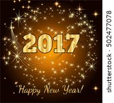 gold glitter happy new year... | Shutterstock .eps vector #502477078