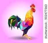 vector illustration of rooster  ... | Shutterstock .eps vector #502477363