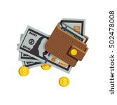 flat illustrations with wallet... | Shutterstock .eps vector #502478008