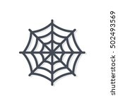 web net icon halloween colored | Shutterstock .eps vector #502493569