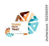 christmas and new year... | Shutterstock .eps vector #502500559