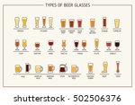beer glass types. beer glasses  ... | Shutterstock . vector #502506376