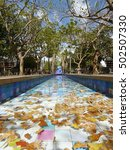 Colorful Tile Fountain Pool An...