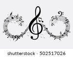 music note background | Shutterstock .eps vector #502517026