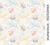 floral seamless pattern. exotic ... | Shutterstock .eps vector #502520464
