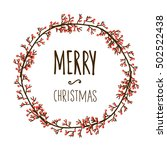 collection of vintage merry... | Shutterstock .eps vector #502522438