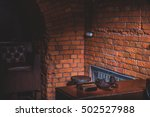 inside of an old building | Shutterstock . vector #502527988