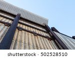 a section of border fence along ... | Shutterstock . vector #502528510