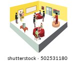 isometric  restaurant in... | Shutterstock .eps vector #502531180