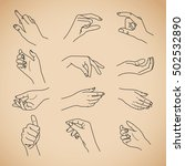 hand collection   vector line... | Shutterstock .eps vector #502532890