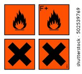 extremely flammable and harmful ... | Shutterstock .eps vector #502539769