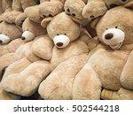 gigantic plush bears on display ... | Shutterstock . vector #502544218