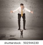 huge angry business guy looking ... | Shutterstock . vector #502544230