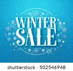 winter sale 3d text vector... | Shutterstock .eps vector #502546948