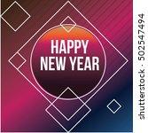 cool modern new year poster | Shutterstock .eps vector #502547494