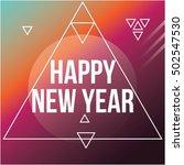 cool modern new year poster | Shutterstock .eps vector #502547530