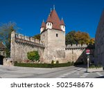 """The """"Reckturm"""" (meaning the """"Tower of Tortures"""") is a medieval tower from the early 13th century in the city of Wiener Neustadt in Austria."""