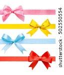 Set Of Colorful Festive Ribbon...