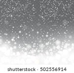 Falling Snow With Snowflakes O...