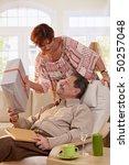 elderly couple celebrating... | Shutterstock . vector #50257048