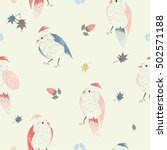 seamless pattern with birds... | Shutterstock .eps vector #502571188