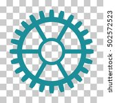 soft blue clock wheel interface ... | Shutterstock .eps vector #502572523