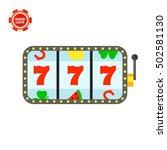 lucky seven jackpot icon   Shutterstock .eps vector #502581130
