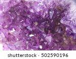 crystal stone macro mineral ... | Shutterstock . vector #502590196
