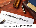 separation agreement form on an ... | Shutterstock . vector #502597708