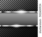 metallic chrome banner with