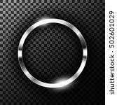 metallic chrome ring on... | Shutterstock .eps vector #502601029