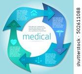 blue medical background... | Shutterstock .eps vector #502611088