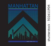 manhattan new york typography ... | Shutterstock .eps vector #502611904