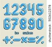 numbers vector set | Shutterstock .eps vector #502612378