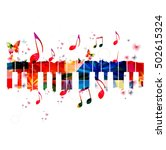 creative music style template... | Shutterstock .eps vector #502615324
