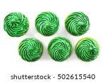 Pistachio Cupcakes  Isolated O...