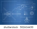 engineering drawing of... | Shutterstock .eps vector #502616650