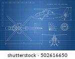 engineering drawing of... | Shutterstock .eps vector #502616650