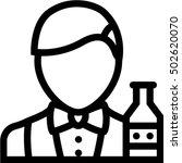 bartender icon | Shutterstock .eps vector #502620070