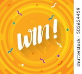 winer sign. congratulations win ... | Shutterstock .eps vector #502624459