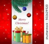 christmas card. happy new year. ... | Shutterstock . vector #502629520