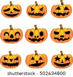 halloween pumpkin   Shutterstock .eps vector #502634800
