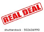 real deal red stamp text on... | Shutterstock .eps vector #502636990
