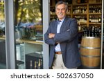 wine shop owner | Shutterstock . vector #502637050