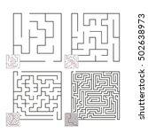 set of mazes 47 | Shutterstock .eps vector #502638973