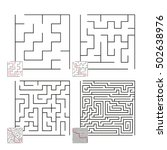 set of mazes 44 | Shutterstock .eps vector #502638976