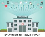 medical and hospital building... | Shutterstock .eps vector #502644934