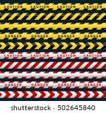 danger ribbons set. yellow... | Shutterstock .eps vector #502645840