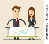 man and woman works together ... | Shutterstock .eps vector #502648378