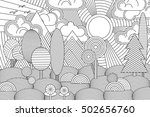 landscape of geometric elements ... | Shutterstock .eps vector #502656760